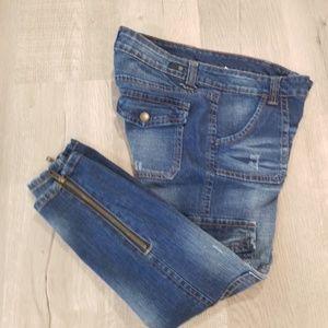 - Jessica Simpson cargo zipper ankle jeans 29